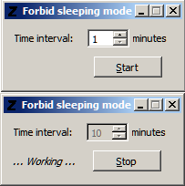 forbidSleepingMode screenshot