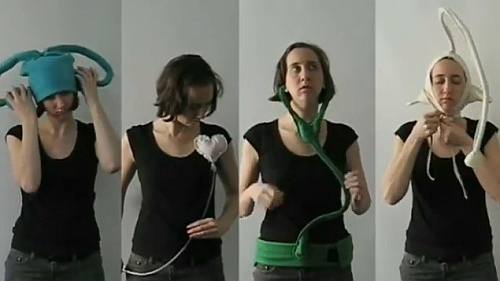 Kate Hartman and her wearable communication devices