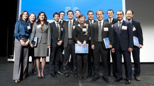 International Year of Chemistry - Young Leader Team at the Brussels Closing Ceremony; December 1st 2011