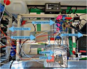 Plan view of Cronin's robotic system